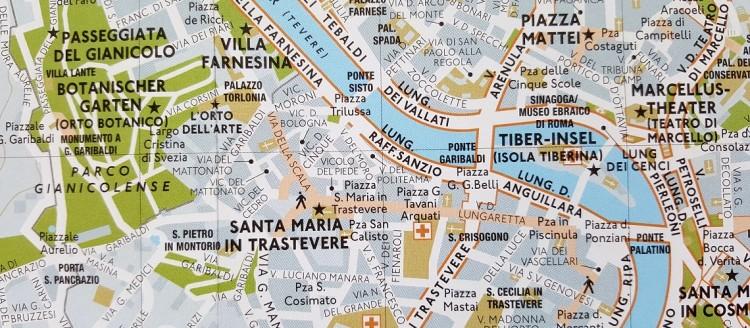 Strassenkarte von Rom
