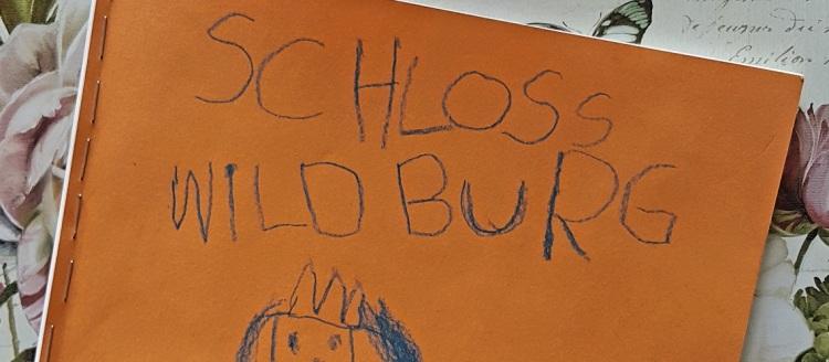 """Gemalte Titelseite des Buches """"Schloss Wildburg"""""""